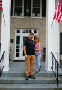 Photo of new innkeepers, Dana & Trey, at Steeles Tavern Manor in the Shenandoah Valley of Virginia.