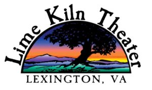 Lime Kiln Theater in Lexington VA logo - very colorful with silhouette of a tree against a colorful sunset background.