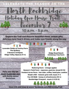 Poster for the North Rockbridge Holiday Open House Tour