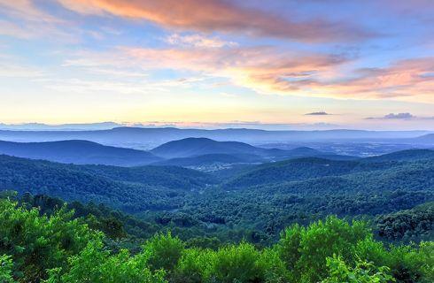 view of Blueridge Mountains