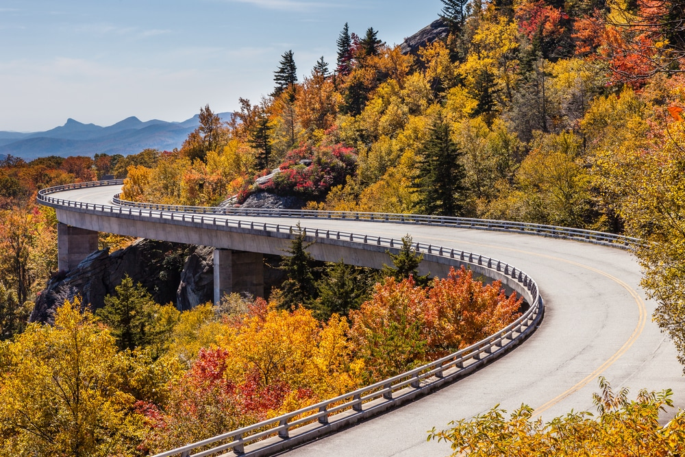 Stunning fall foliage in the Shenandoah Valley on the Blue Ridge Parkway
